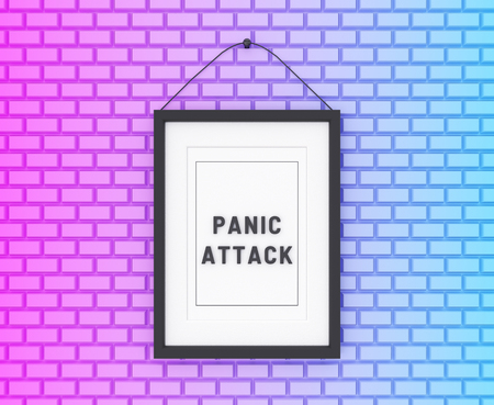 Panic Attack written on a colorful background. Medicine concept. 3D Illustration.