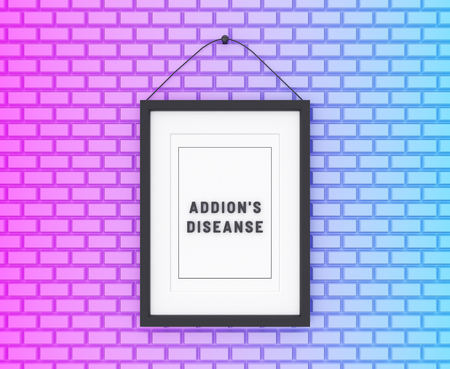 Addisons Diseanse written on a colorful background. Medicine concept. 3D Illustration. Reklamní fotografie