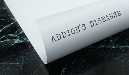 Addisons Diseanse written on paper with marble. Medicine concept. 3D Illustration. Reklamní fotografie