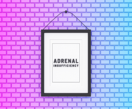 Adrenal Insufficiency written on a colorful background. Medicine concept. 3D Illustration.