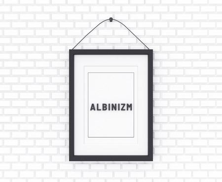Albinism written on a white background. Medicine concept. 3D Illustration. Reklamní fotografie