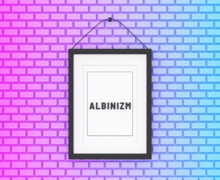Albinism written on a colorful background. Medicine concept. 3D Illustration.