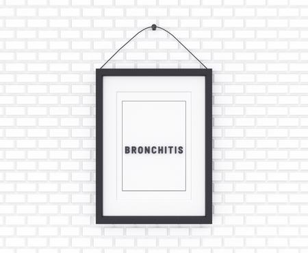 Bronchitis written on a white background. Medicine concept. 3D Illustration.