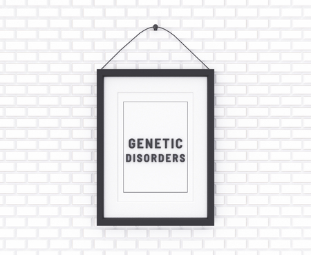 Genetic Disorders written on a white background. Medicine concept. 3D Illustration.