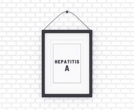 Hepatitis A written on a white background. Medicine concept. 3D Illustration.
