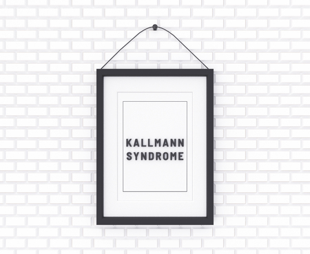 Kallmann syndrome on white background. Medicine concept. 3D Illustration.