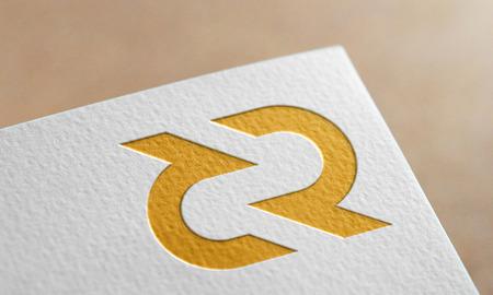 Golden Decred Coin Symbol. Decred Coin Logo.