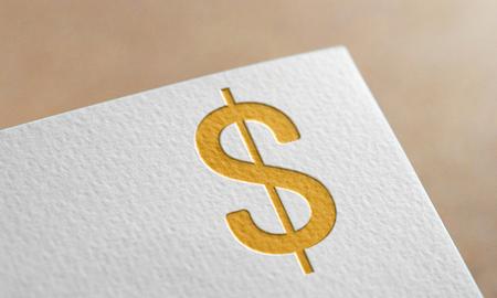 Golden Dollar Money Symbol. Dollar Money Logo. Фото со стока
