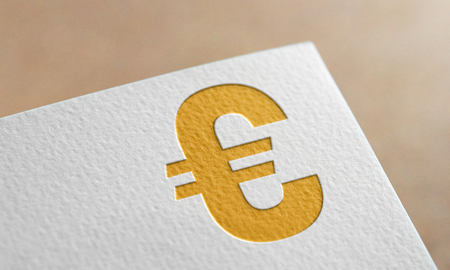Golden Euro Money Symbol. Euro Money Logo.
