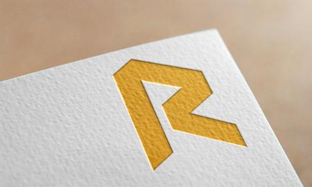 Golden Revain Coin Symbol. Revain Coin Logo.