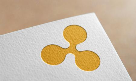 Golden Ripple Coin Symbol. Ripple Coin Logo.