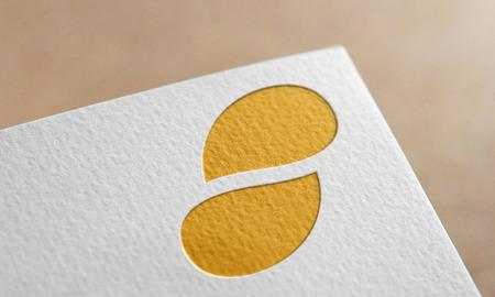 Golden Status Coin Symbol Write Paper. Status Coin Logo.