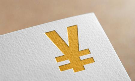 Golden Yen Money Symbol. Yen Money Logo.