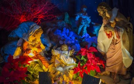 domestic scenes: A christmas scene. The Holy family, Jesus, Joseph & Mary