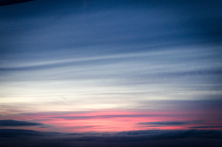 eventide: Sky seen from plane at dusk