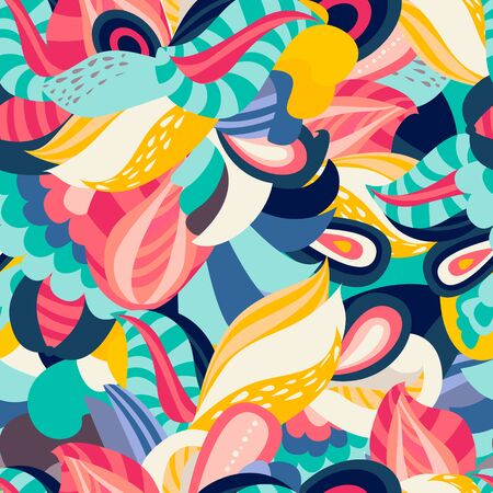Bright floral seamless pattern Illustration