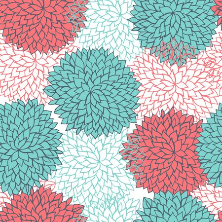 dry flower: Seamless abstract color flowers pattern. Illustration