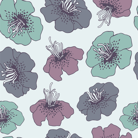 flores tropicales: Floral pattern with tropical flowers.
