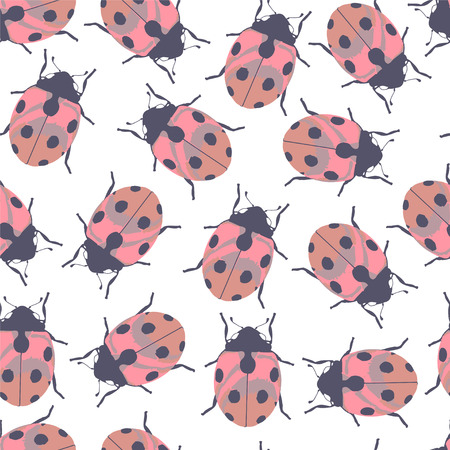 ladybug: Color seamless pattern with ladybug. Illustration