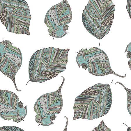 endless: Endless elegant texture with leaves. Illustration