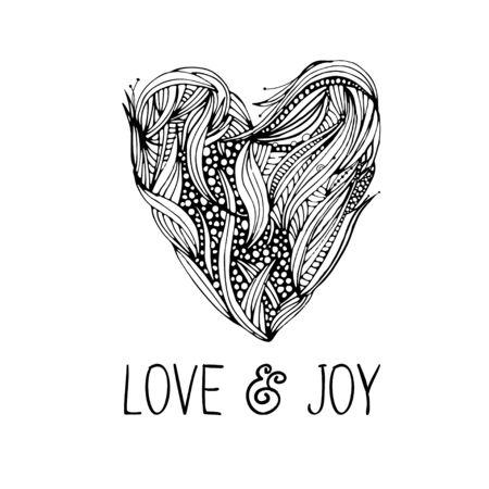 romantic: Romantic card with black hearts.