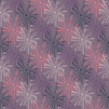 contoured: Floral pattern of the contoured flowers.