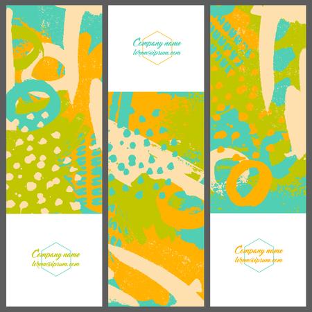ink splatter: Collection invitation cards of ink splatter.