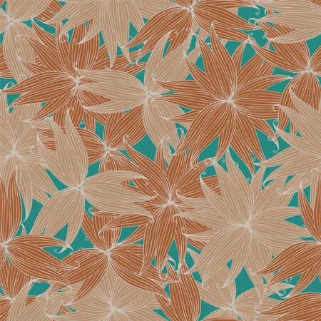 delicate: Delicate floral seamless pattern. Illustration