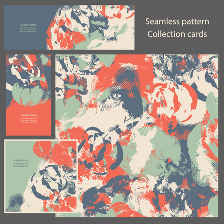military draft: Military camouflage seamless pattern. Invitation cards. Illustration