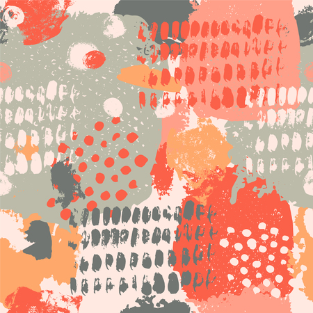 Ink splatter seamless pattern.