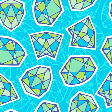 Abstraction seamless pattern with diamonds.