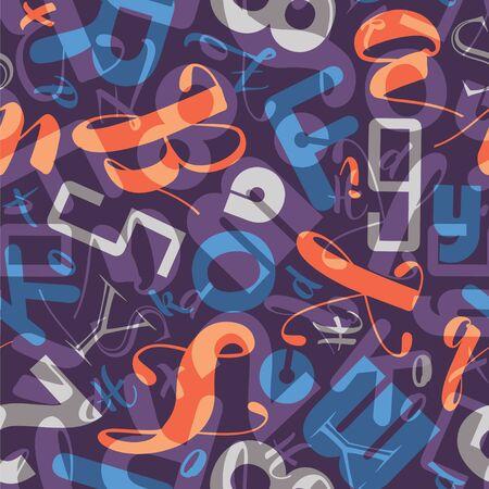 School lettering seamless pattern. Vettoriali
