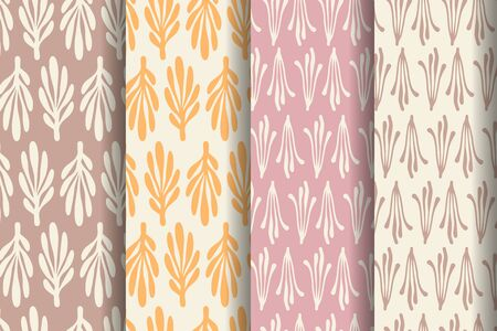 Set of four simple patterns. Wrapping paper design.