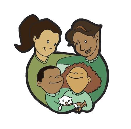 Eltern - Mütter mit Kids Standard-Bild - 10360855