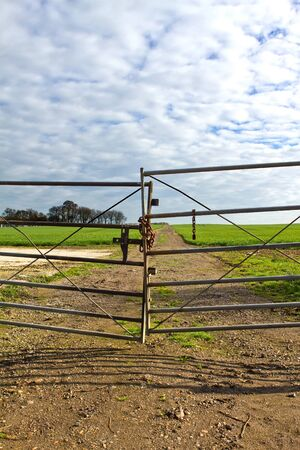 gate to a country field Stock Photo - 12964330