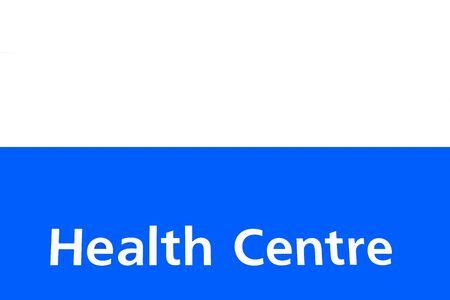 health centre sign Reklamní fotografie
