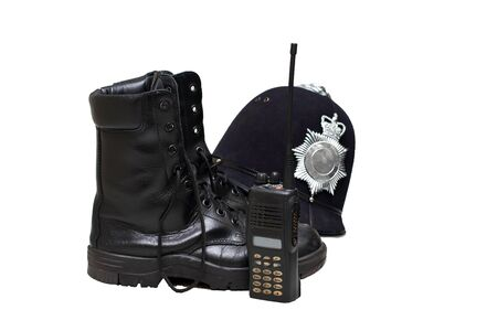 A walkie talkie and police style boots Stock Photo - 14341476