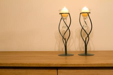 Lounge illuminated by candle light Stock Photo - 15003169