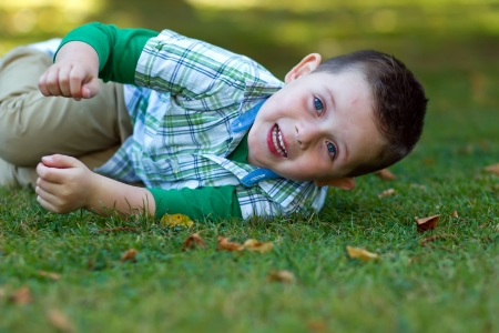 cute little boy playing at the park Stock Photo - 15945772