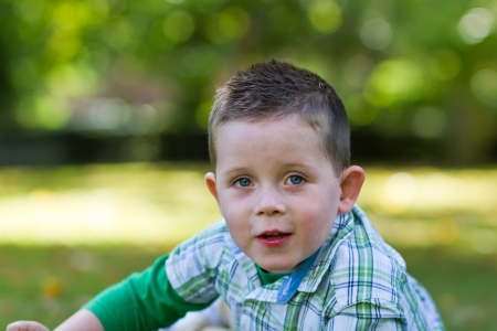 cute little boy playing at the park Stock Photo - 15945769