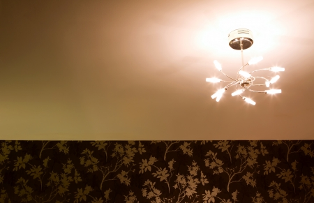 bedroom celing light fitting dimly glowing photo