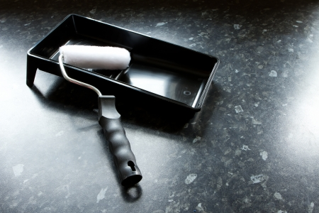 black paint tray with mini roller Stock Photo - 15945946