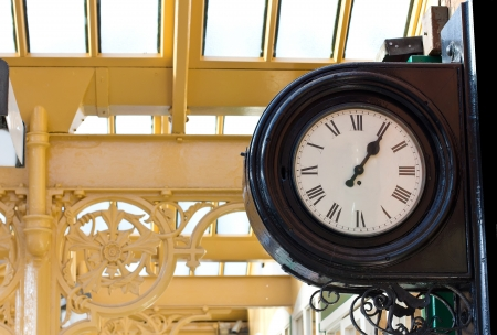 railway station clock photo