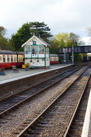 steam railway platform and staion buildings Stock Photo - 16468820