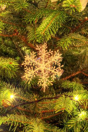 christmas decoration hanging on the christmas tree Stock Photo - 16732130