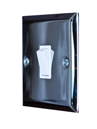 chrome light switch in a modern kitchen Stock Photo - 16803332