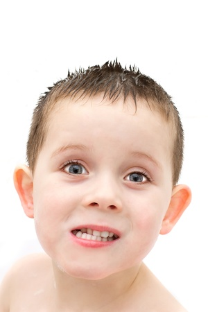 little boy washing in the bath Stock Photo - 17277153