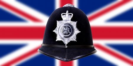 British police helmet photo