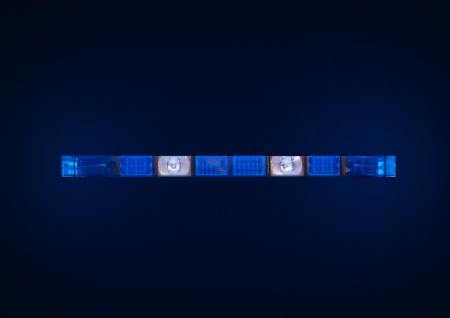 police emergency lights with blue surrounding light Stock Photo - 19019197