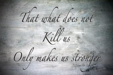 Inspirational, hopeful and motivating quote on vintage background